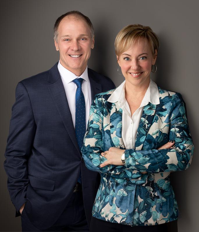 André Pinsonneault et Louise Demers de l'entreprise Demers Pinsonneault - Services Financiers